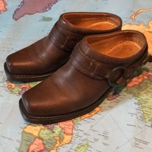 Frye Leather Mules, 9.5
